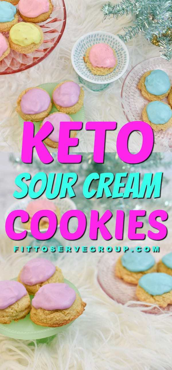 These keto sour cream cookies will remind you of the old fashion cookies you grew up on. McCall's sour cream cookie recipe has nothing on these keto cookies! Low carb cookies| keto cookies| low carb sour cream cookies| keto sugar cookies|