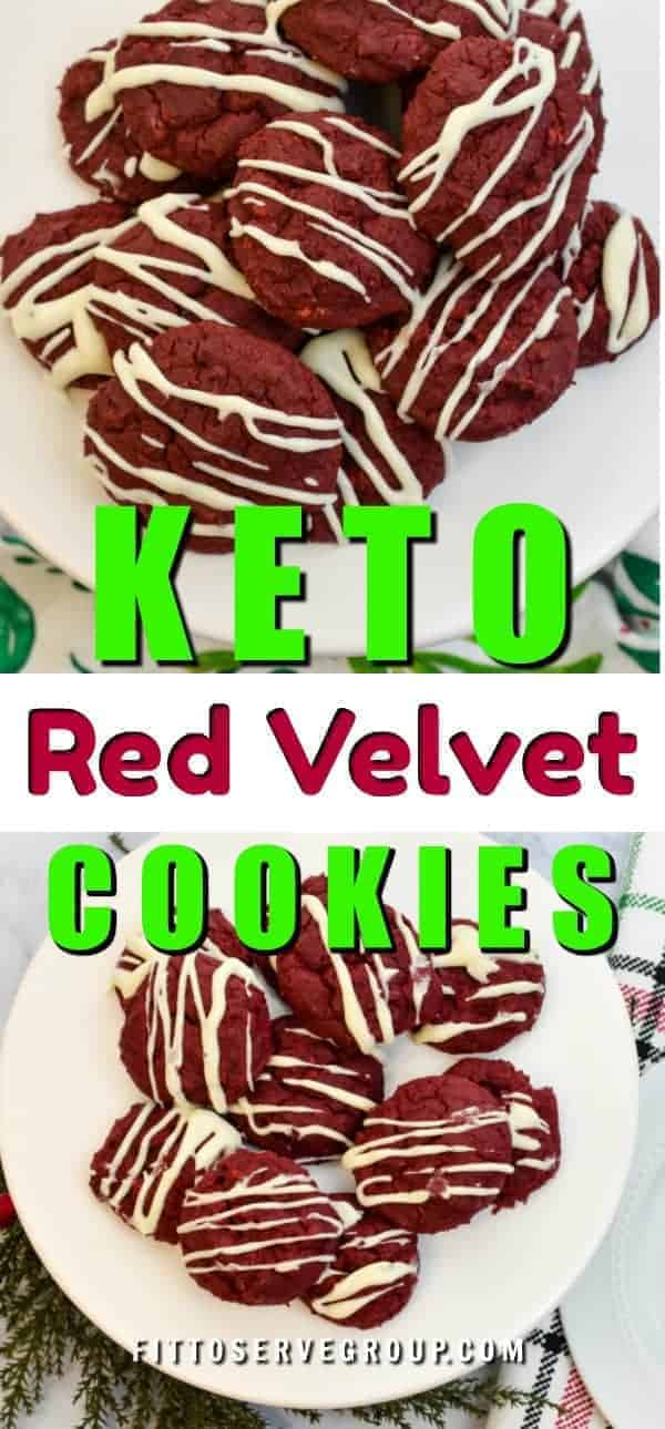 Red velvet goes keto! That's right you can enjoy red velvet keto cookies and remain keto compliant with these delicious low carb cookies. Keto cookies| low carb cookies| keto red velvet cookies| low carb red velvet cookies