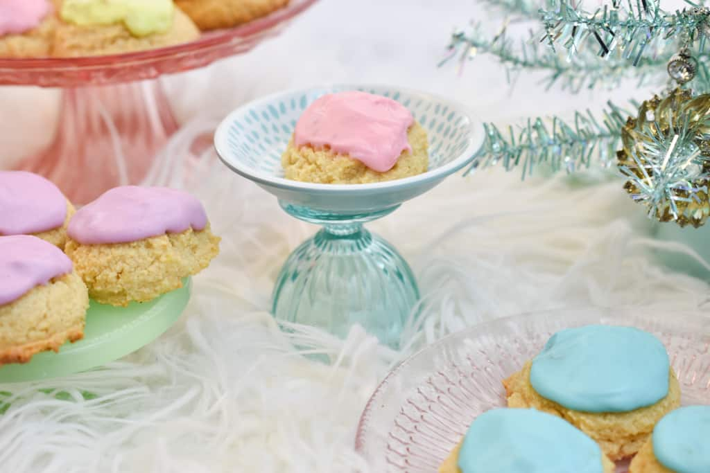 keto sour cream cookies colorful christmas scene