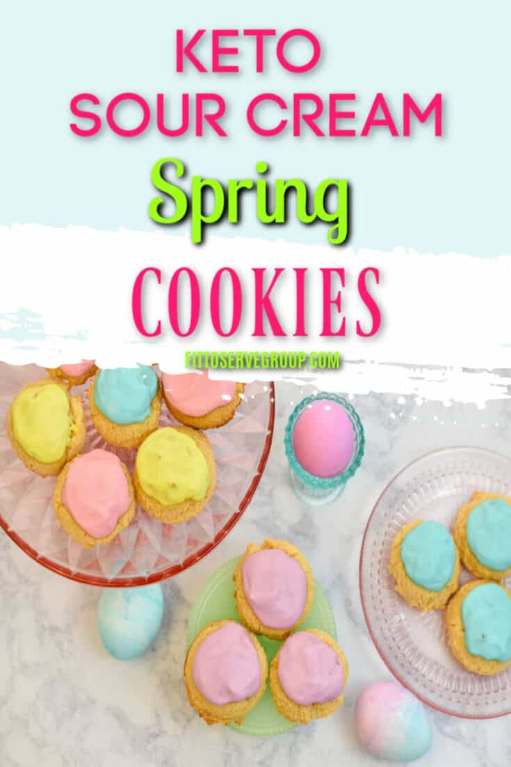 These keto sour cream cookiesare the perfect low carb spring cookie. It wiill remind you of the old fashion cookies you grew up on. McCall's sour cream cookie recipe has nothing on these keto easter cookies! Low carb cookies| keto cookies| low carb sour cream cookies| keto sugar cookies|