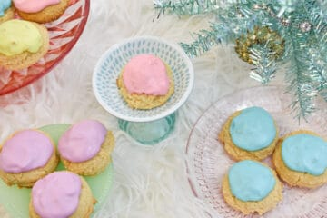 purple pink blue christmas keto sour cream cookies