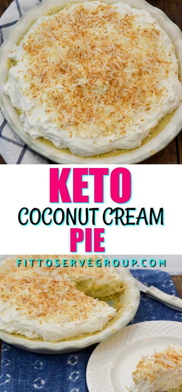 Coconut lovers rejoice because this keto coconut cream pie will have you falling in LOVE with the keto diet. This low carb coconut pie features a rich, creamy egg custard filling, a buttery coconut flour crust and plenty of toasted coconut flakes to satisfy all your coconut pie cravings.#ketococonutpie #lowcarbcoconutpie #ketopie #lowcarbpie