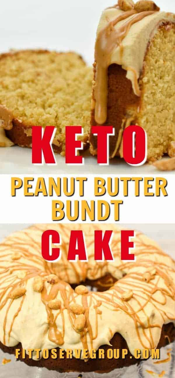 This keto peanut butter bundt cake is a peanut butter lover's dream! It's a moist, dense, rich cake that makes sure that peanut butter is the star. low carb peanut butter cake| keto peanut butter cake #ketocake #lowcarbcake