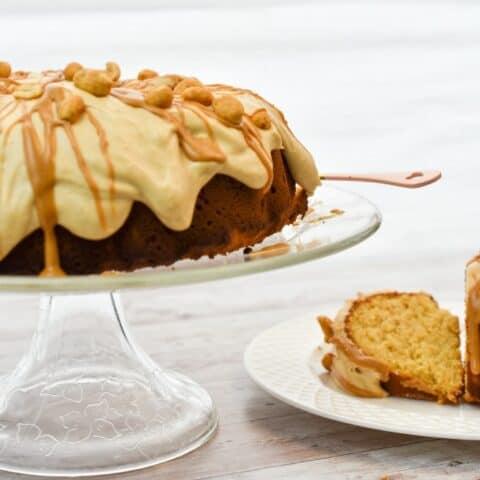Keto Peanut Butter Bundt Cake