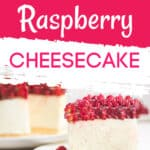 low carb raspberry cheesecake
