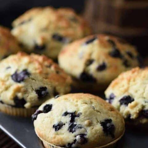 blueberry keto muffins