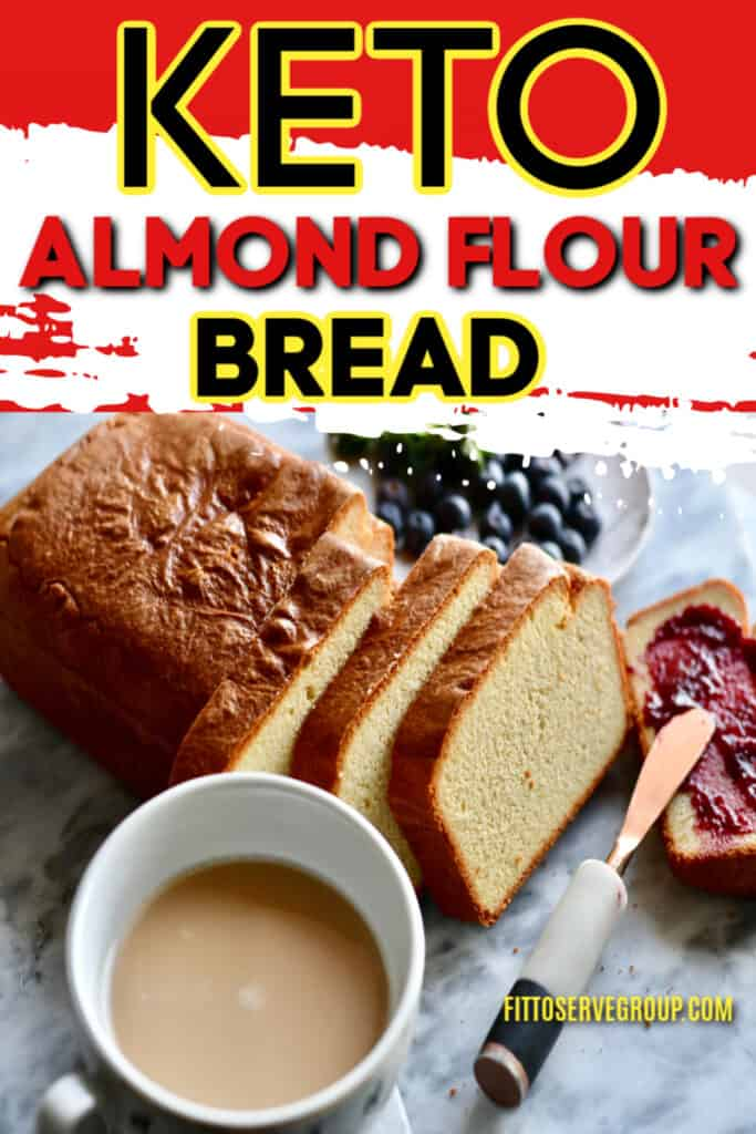 Stop craving white sandwich bread while doing keto with this recipe for keto almond flour bread.
