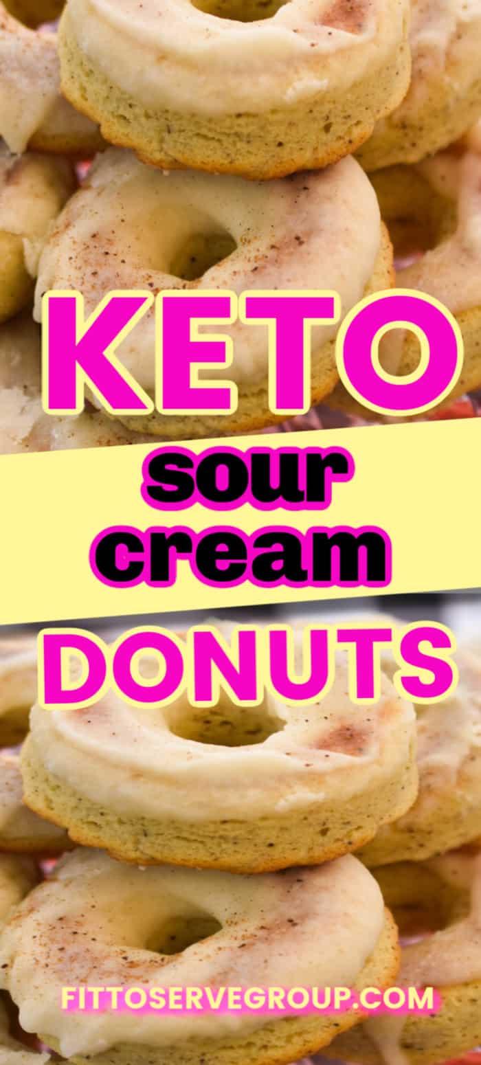 easy Keto Old Fashion Sour Cream Donuts