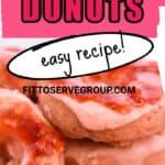 keto strawberry donut