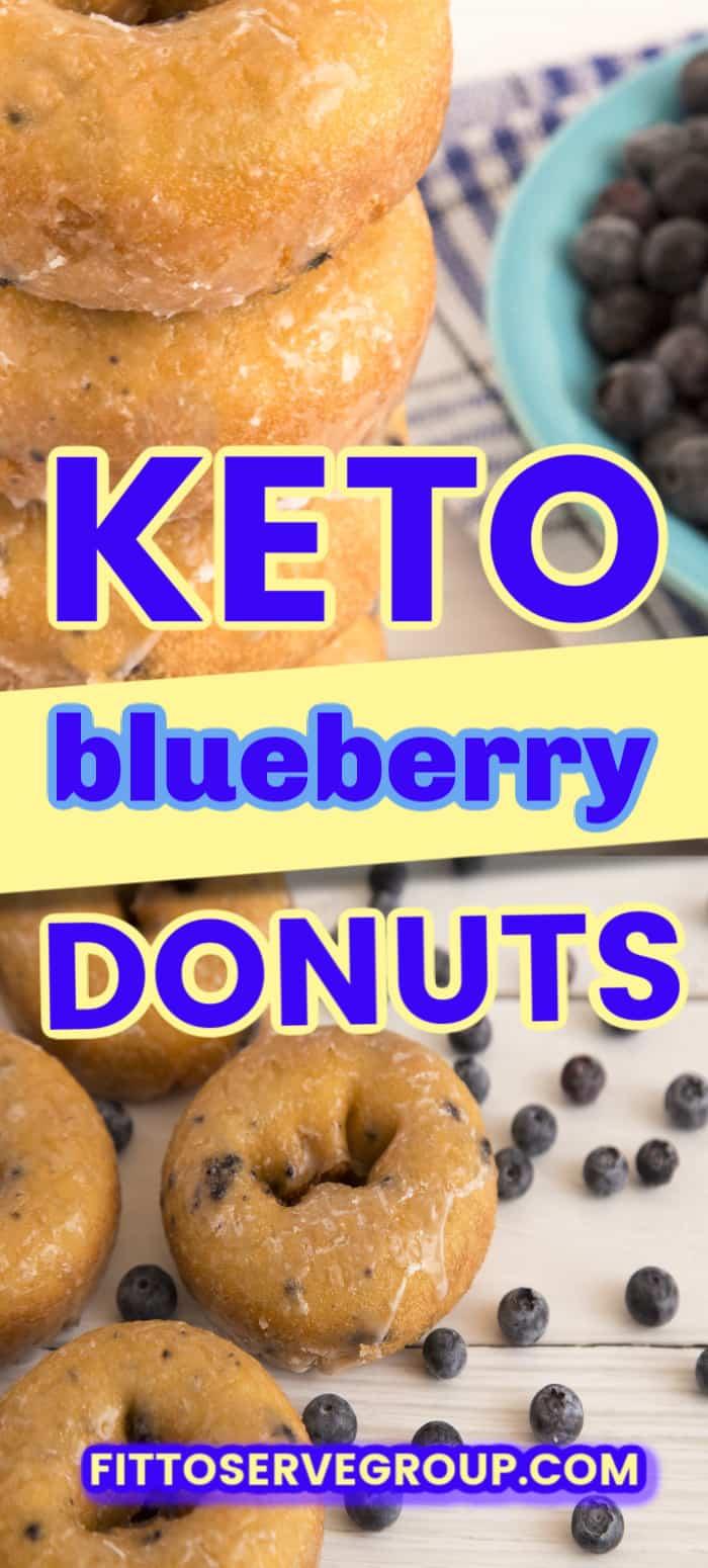 keto blueberry donuts