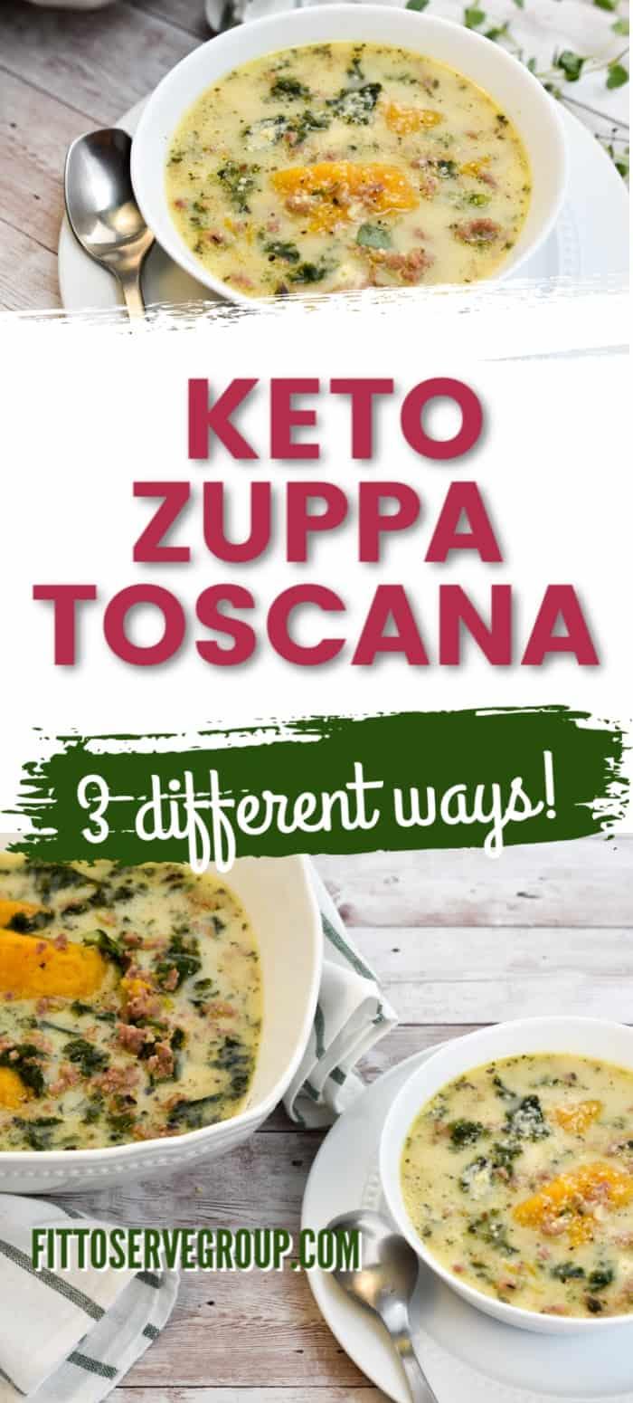 Keto zuppa toscana long pin