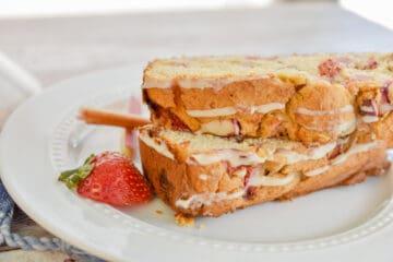 Low carb strawberry rhubarb bread