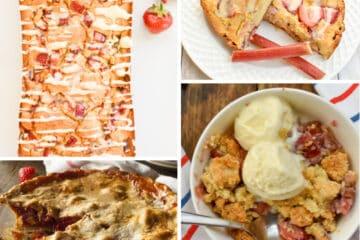 Keto rhubarb recipes collage