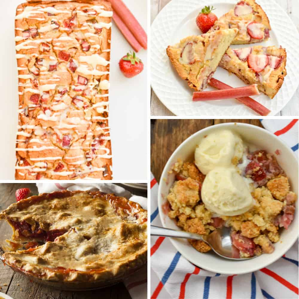 Keto rhubarb recipes collage