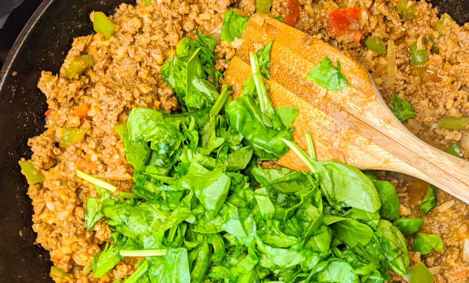 Ground beef with hidden veggies
