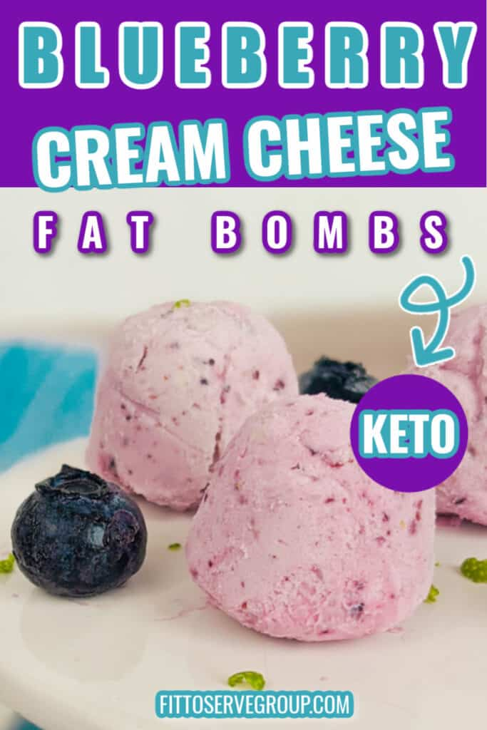 Blueberry Cream Cheese Fat Bombs Pin