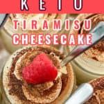 No Bake Keto Tiramisu Cheesecake Pin