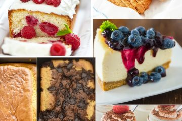 Almond flour keto recipes in a collage