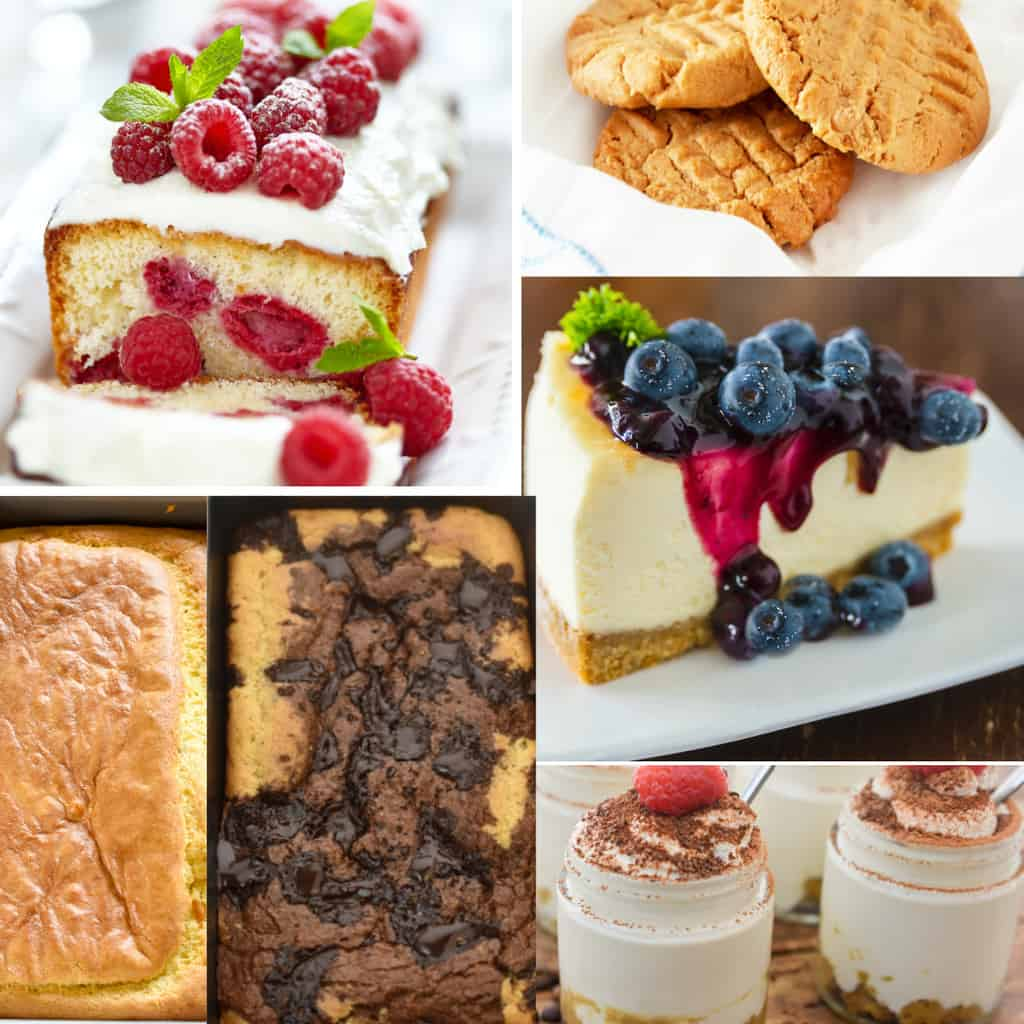 Almond flour keto recipes in a collage