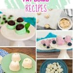 Cream cheese fat bombs recipe collection a collage image of 5 different recipes