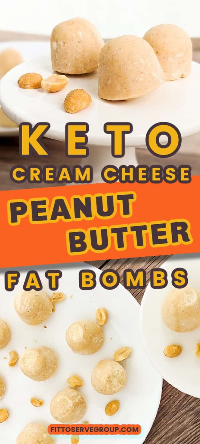 Keto Cream Cheese Peanut Butter Fat Bombs Pin