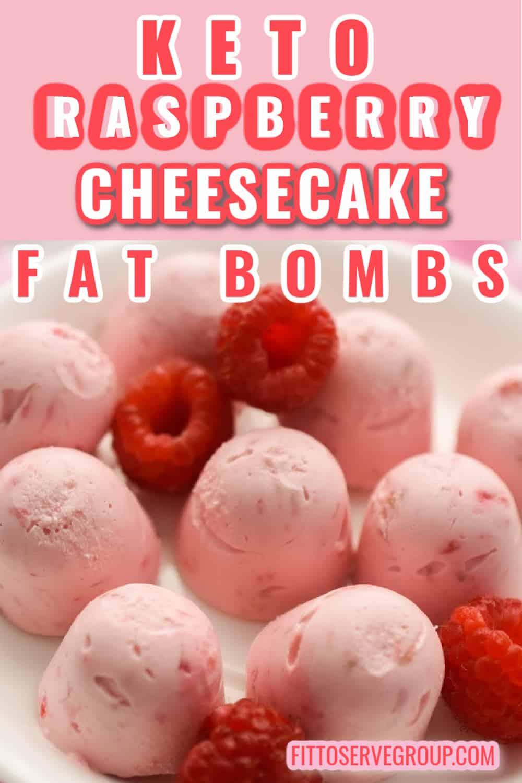Keto Raspberry Cheesecake Fat Bombs Pin