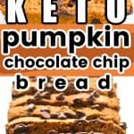 Keto pumpkin chocolate chip bread