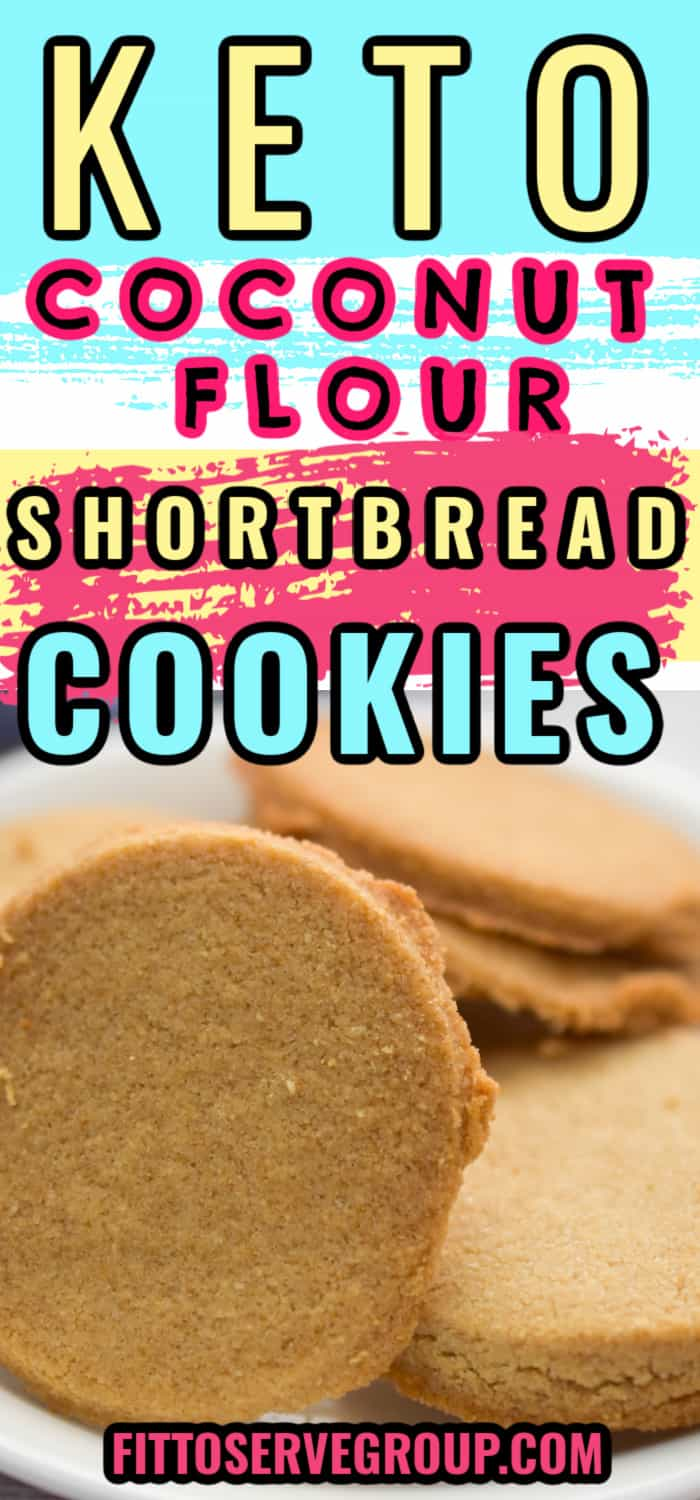keto coconut flour shortbread cookies on small white plate