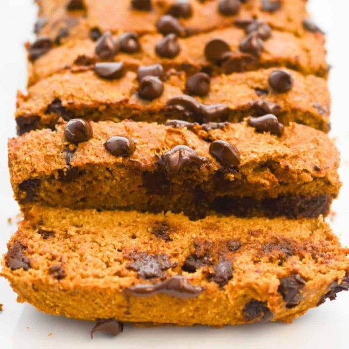 keto pumpkin chocolate chip bread recipe