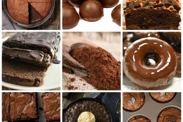 Collage Of Hershey's Cocoa Powder Keto Recipes