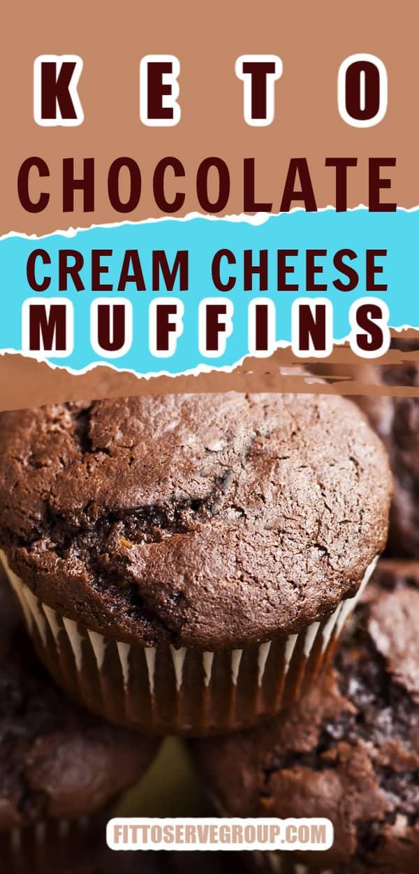 Keto Chocolate Cream Cheese Muffins Pi