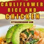 Keto Mexican Cauliflower Rice And Chicken Pin
