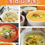 Easy keto soups collage pin