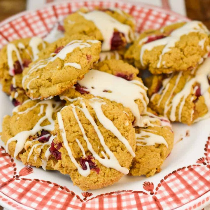 Keto Pumpkin Cranberry Cookies