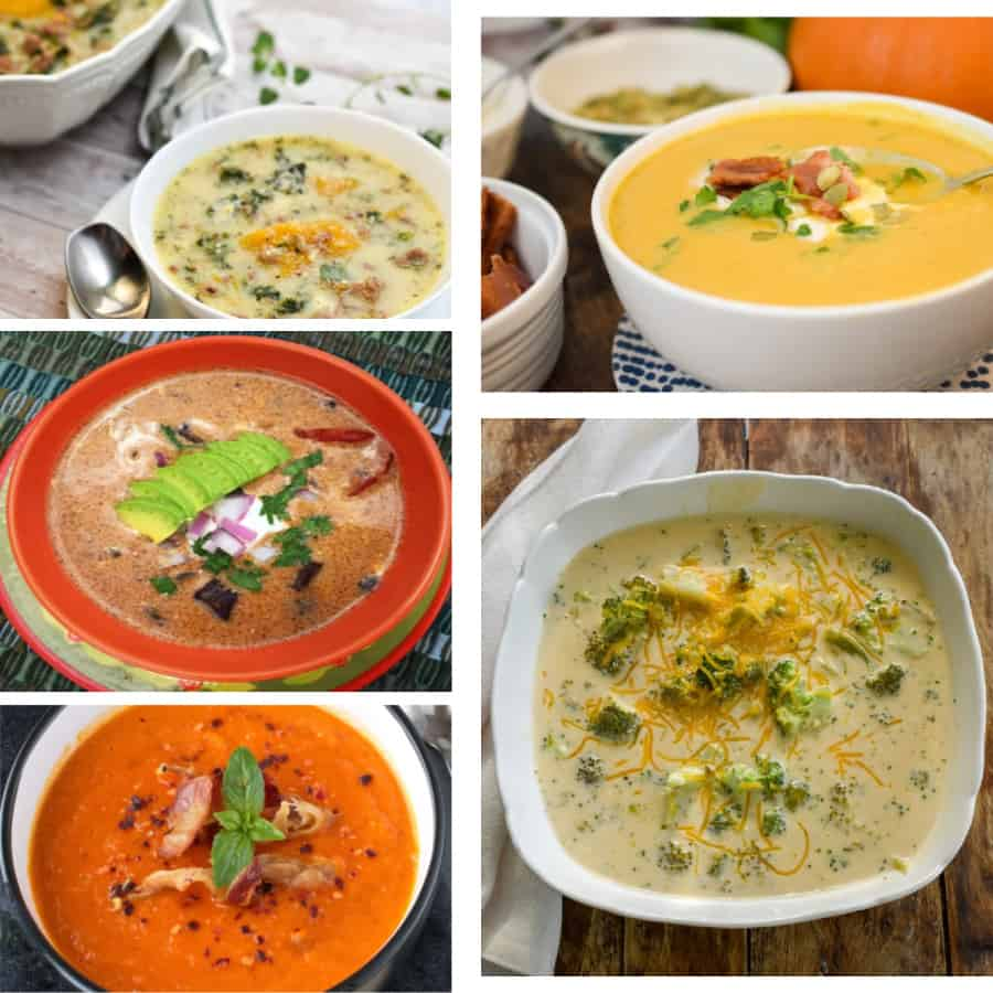 keto soups collage for featured image