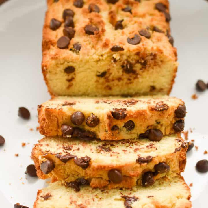 Keto Chocolate Chip Pound Cake
