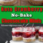 keto cranberry no-bake cheesecake minis long pin