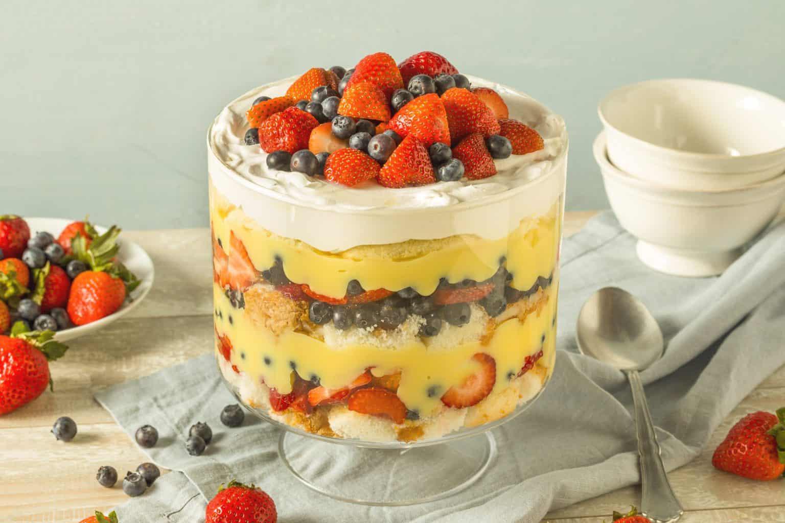 keto trifle dessert ready to serve