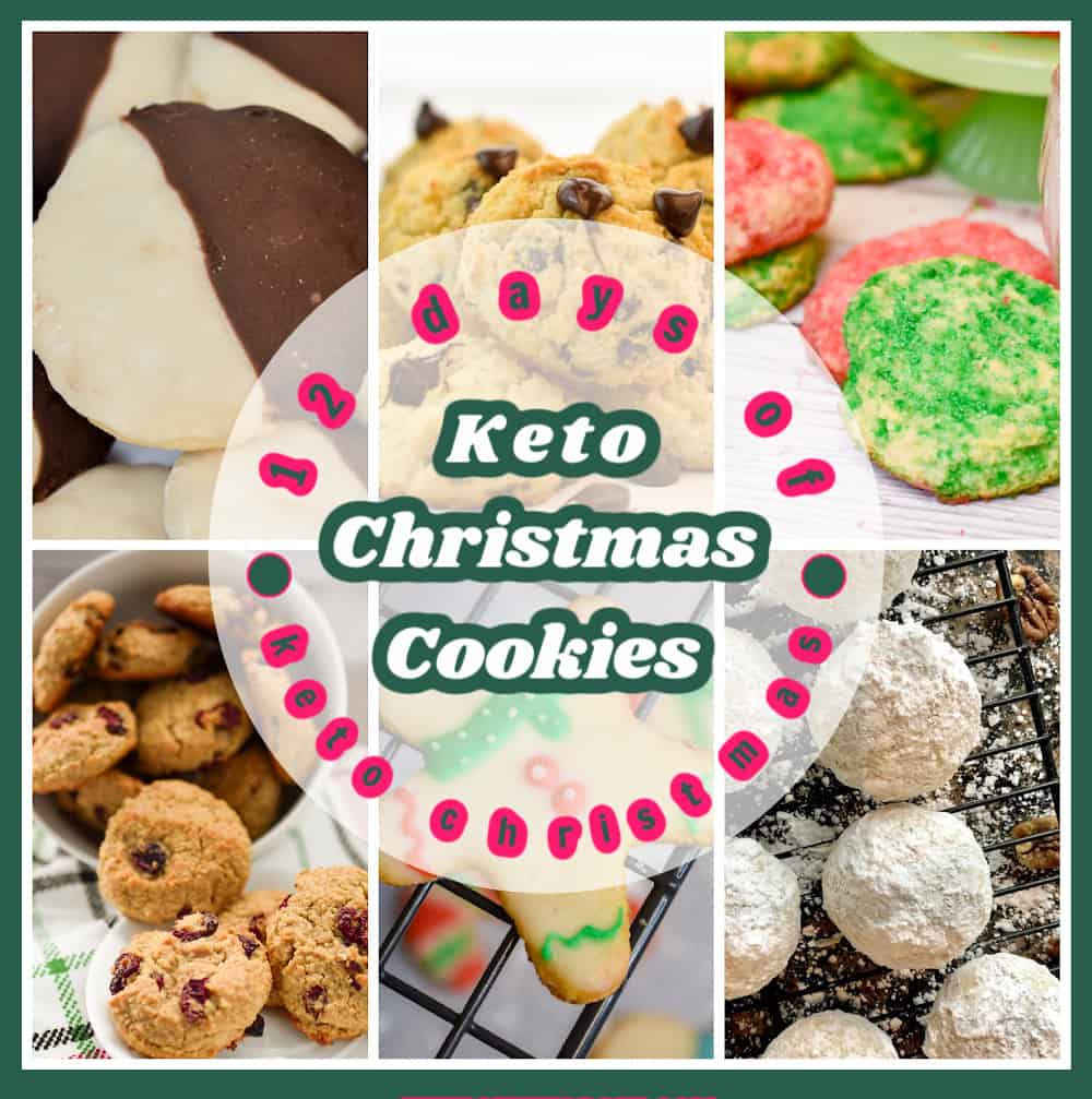 12 Days of Keto Christmas Cookies Collage