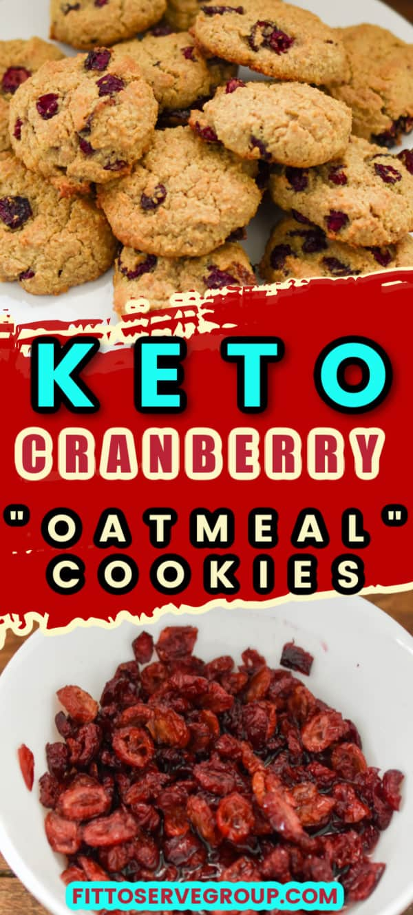 Keto Dried Cranberry Oatmeal Cookies