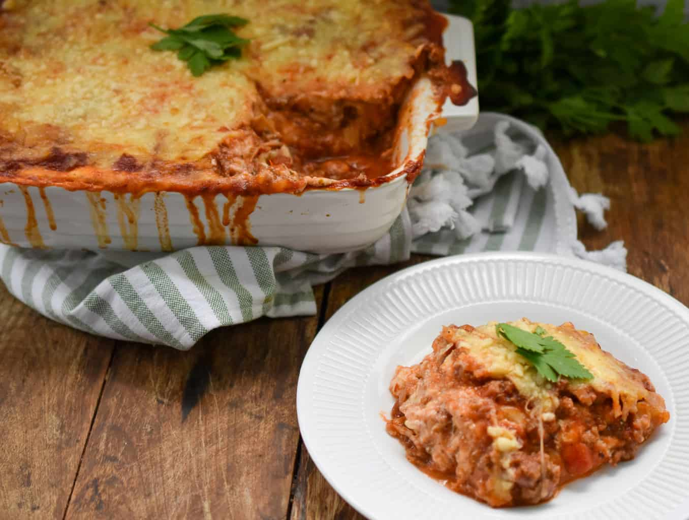 Keto Crepini Lasagna Served