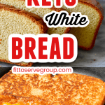 easy keto white bread used to make a grilled cheese