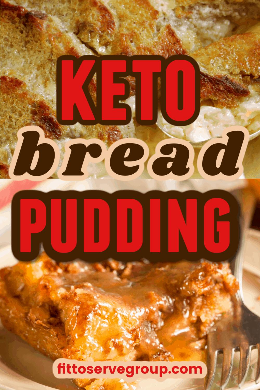 Keto Bread Pudding, gluten free bread pudding