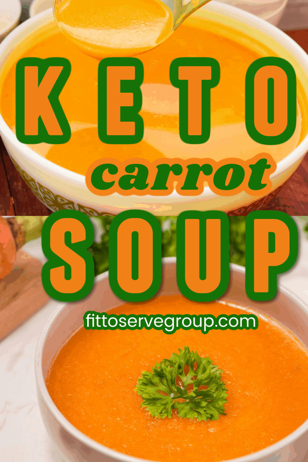 Keto carrot soup with roasted carrots
