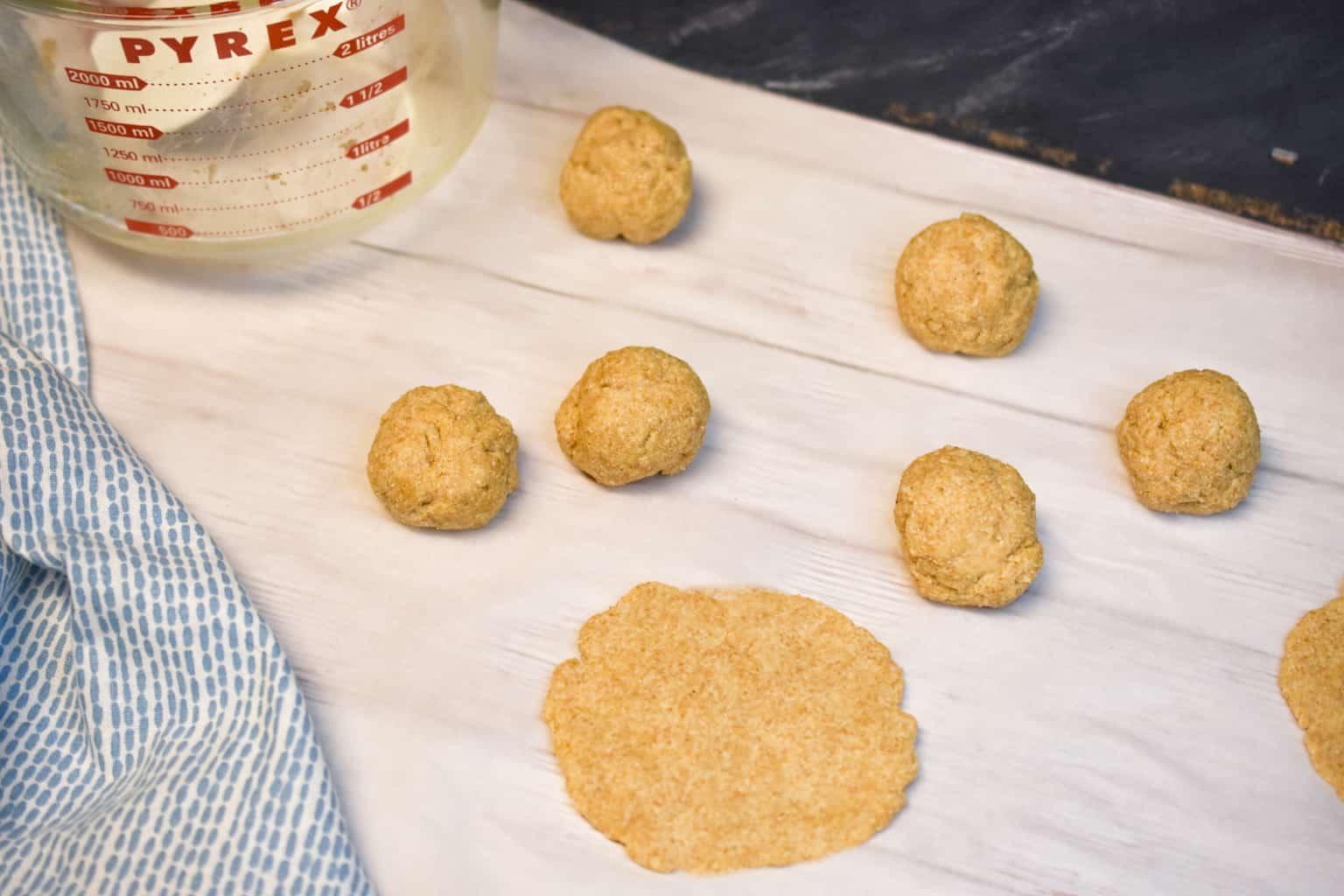 keto tortillas being made