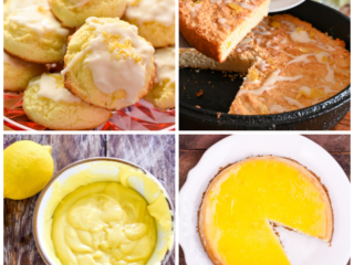 keto lemon recipes featured image collage