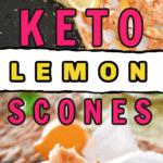 keto lemon scones easy no roll dough recipe