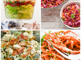keto salad recipes collage featured image