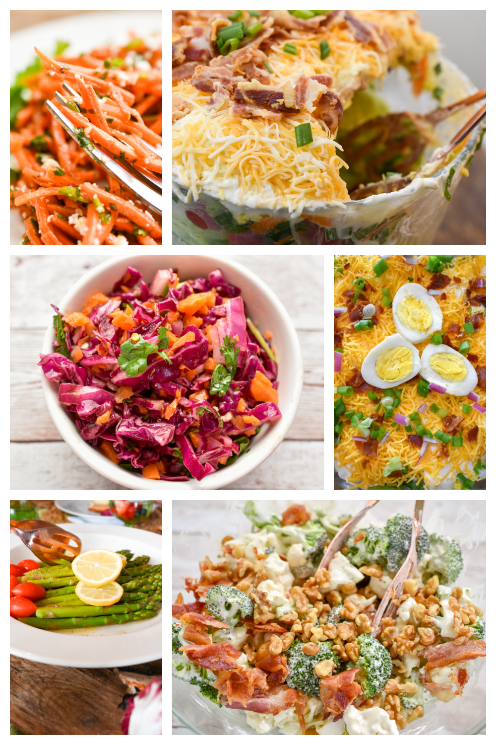 Collection of keto salad recipes featured in a long pin