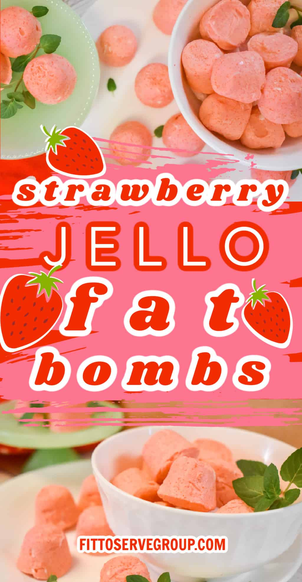 strawberry jello cream cheese fat bombs pin